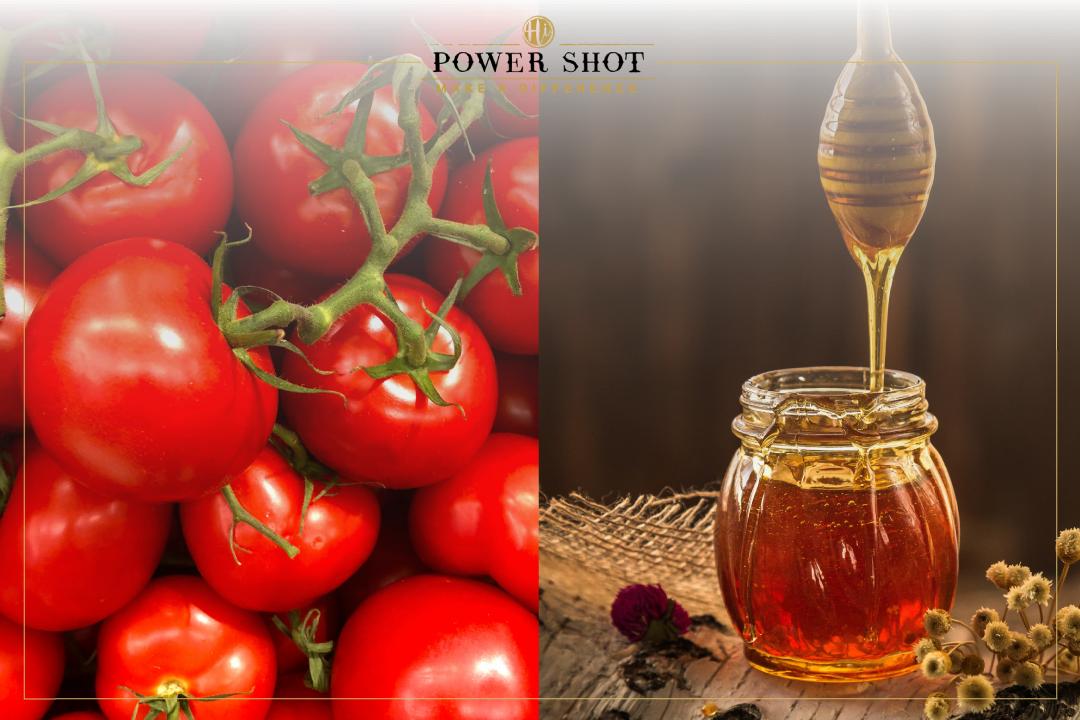 สูตรที่ 2 สูตรพอกหน้าหมองคล้ำด้วยน้ำผึ้งมะเขือเทศ หน้าใสนุ่มนิ่ม เนรมิตได้